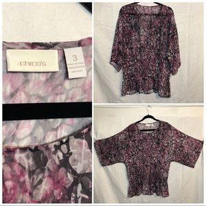 Chico's sheer top size 3